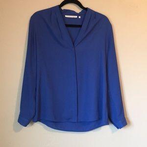 Blue office blouse